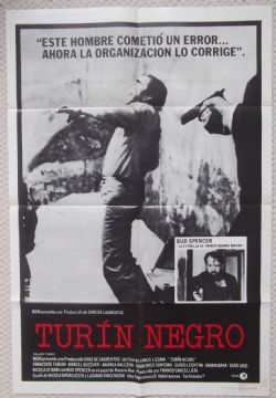 Black Turin, Turin Negro, Original Spanish Poster, Bud Spencer, '72
